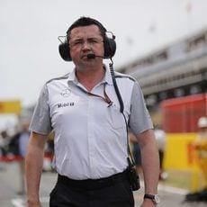 Eric Boullier en el Gran Premio de España