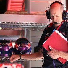 Adrian Newey asistió al GP de España 2014