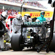 Parada rápida de Nico Rosberg