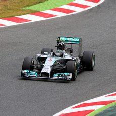 Nico Rosberg volvió a ser segundo con el W05