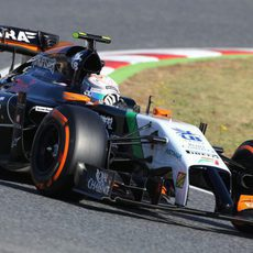 Dani Juncadella estuvo con Force India en los test de Barcelona
