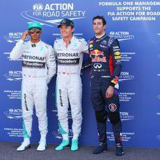 Rosberg, Hamilton y Ricciardo, los más rápidos en Mónaco