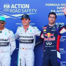 Pole para Rosberg, por delante de Hamilton y Ricciardo
