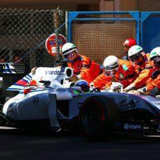 Felipe Massa se quedó sin disputar la Q2 en Mónaco