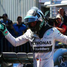 Nico Rosberg celebra su segunda pole de la temporada