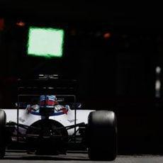 Valtteri Bottas llega a la entrada del túnel