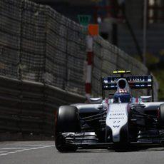 Valtteri Bottas no tuvo ritmo en Mónaco