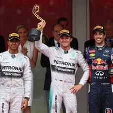 Podio del Gran Premio de Mónaco 2014