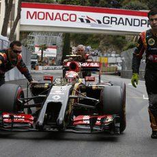 Pastor Maldonado no pudo disputar el GP de Mónaco