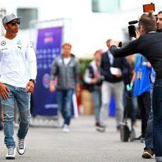 Lewis Hamilton pasea en Montreal
