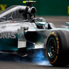 Pasada de frenada de Nico Rosberg en Montreal