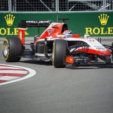 Jules Bianchi no acabó la sesión de entrenamientos