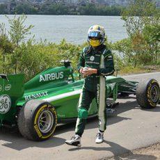 Marcus Ericsson se queda tirado en una escapatoria