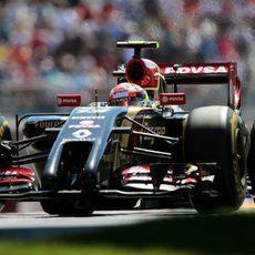 Pastor Maldonado tuvo un problema en la Q1