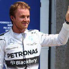 El 'ok' de Nico Rosberg al lograr la pole