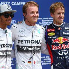 Rosberg, Hamilton y Vettel, los más rápidos