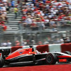 Jules Bianchi no tuvo una segunda vuelta cronometrada