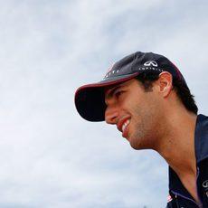 Un sonriente Daniel Ricciardo en Canadá