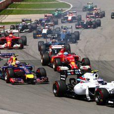Mucho tráfico en la salida del GP de Canadá 2014