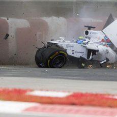 Fuerte accidente de Felipe Massa