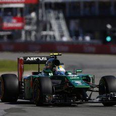 Marcus Ericsson solo completó una parte del GP de Canadá
