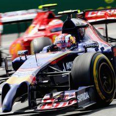 Daniil Kvyat tuvo problemas de conducción