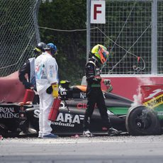 Sergio Pérez sale ileso del coche
