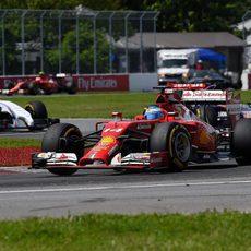 Fernando Alonso acabó sexto en Canadá