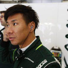 Kamui Kobayashi preparándose para la clasificación