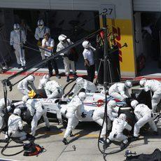 Felipe Massa hace su parada