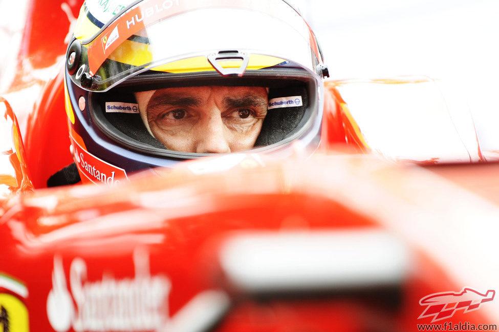 Pedro de la Rosa, concentrado en el F60