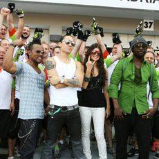 Los Black Eyed Peas en Singapur
