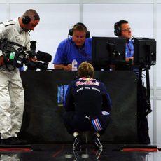 Vettel tras la clasificación
