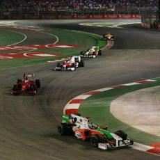 Sutil por delante de Fisichella