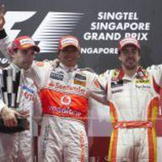 Los 3 del podio