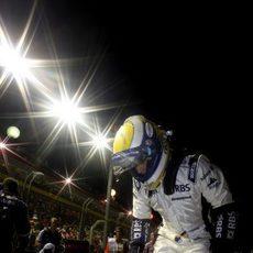 Rosberg se sube al monoplaza