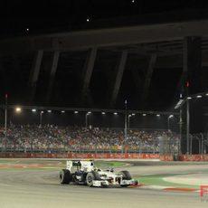 Heidfeld en el GP de Singapur