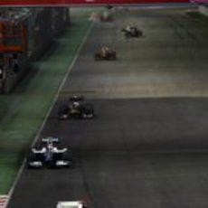 Button por delante de Nakajima