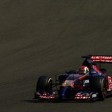 Daniil Kvyat en Silverstone el último día de test
