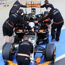 Dani Juncadella volviendo al garaje