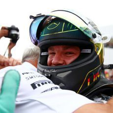 Celebración de Nico Rosberg y el equipo