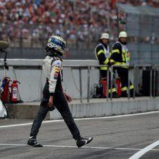 Adrian Sutil abandona en el Gran Premio de Alemania