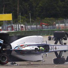 La carrera de Felipe Massa duró poco