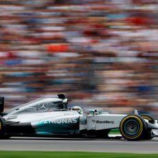 Lewis Hamilton llegó al podio en Hockenheim