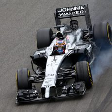 Pasada de frenada de Jenson Button en Hockenheim