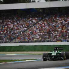 Kamui Kobayashi girando una curva en Hockenheim