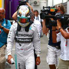 Decepción de Lewis Hamilton en la Q1