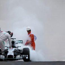 Lewis Hamilton tuvo que abandonar en la Q1