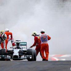 Lewis Hamilton no completó la clasificación en Hungría