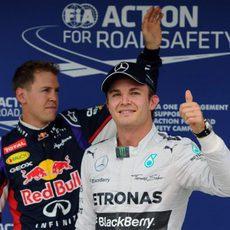 Nico Rosberg y Sebastian Vettel, los más rápidos